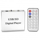 Car MP3 Digital Player w/ SD /  USB / 3.5mm Audio Jack / Remote Controller - Silver