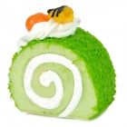 Cute Cake Roll Style Magnetic Fridge Sticker - Green
