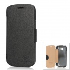 NILLKIN  Protective PU Leather Flip Open Case for Samsung I759 - Black