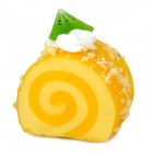 Cute Cake Roll Style Magnetic Fridge Sticker - Yellow