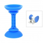 Universal 180 Degree Rotatable Dual-end Suction Cup Silicone Phone Holder Stand for Car Use - Blue