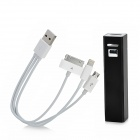 External Portable 3200mAh Power Bank w/ Adapter Cable for iPhone / iPad / Samsung - Black