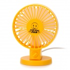 YSDX-820 USB Powered 2-Mode 2-Blade Cooling Fan - Yellow