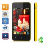 "Newish 68M (Z7_WVGA_TL) Android 4.0 GSM Bar Phone w/ 4.0"" Capacitive, Wi-Fi and Dual-Band - Yellow"