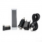 AC / Car Charger Adapters + Portable 1600mAh Power Bank Kit w/ Adapters for iPhone / iPad - Black