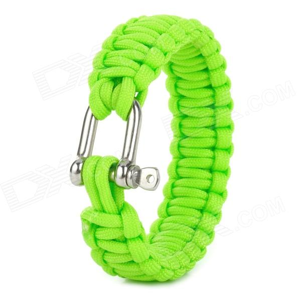 Military Survival Paracord Bracelet - Green