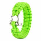 Survival Paracord Pulseira Militar - Green
