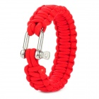 Military Überleben Paracord Armband - Red