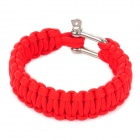 Military Survival Paracord Bracelet - Red