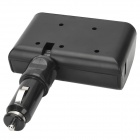 W56 3-Socket  Dual USB Car Cigarette Lighter Adapter  (12~24V)