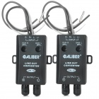 CHL-10 Dual Track HF Audio to Bass Stereo Amplifier Adapter for Car - Black (2 PCS)