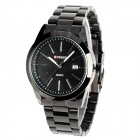 CURREN 8019 Water Resistant Electroplating Tungsten Steel Quartz Wrist Watch - Black (1 x 626)