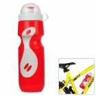 GUB PRO Bicycle PE Water Bottle - Red + White (650ml)