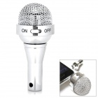 Unique Microphone Style Mini Speaker for Iphone 4S / 5 + More - Silver