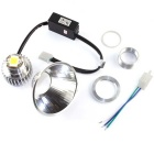 20W 2000lm 8000K Motorcycle LED Headlamp w/ Angel Eye  (12V)