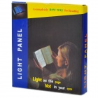 Large Panel 3.5W 100lm 6500K 3-LED White Light Book Reading Lamp - Black + Transparent (3 x AAA)