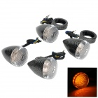 XMP003 Motorcycle DIY Snake Pattern 1.8W 160lm 20-LED Yellow Light Steering Lamp - Silver + Black