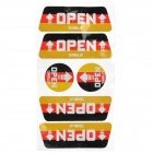 Car Door Open Alarm Reflective Sticker - Red + Black + White  +  Yellow