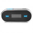 "0.8"" LCD 3.5mm Plug Car FM Transmiter - Black + Silver + Blue"