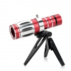 20X Optical Zoom Telescope Lens for Iphone 4 / 4S - Red + Silver