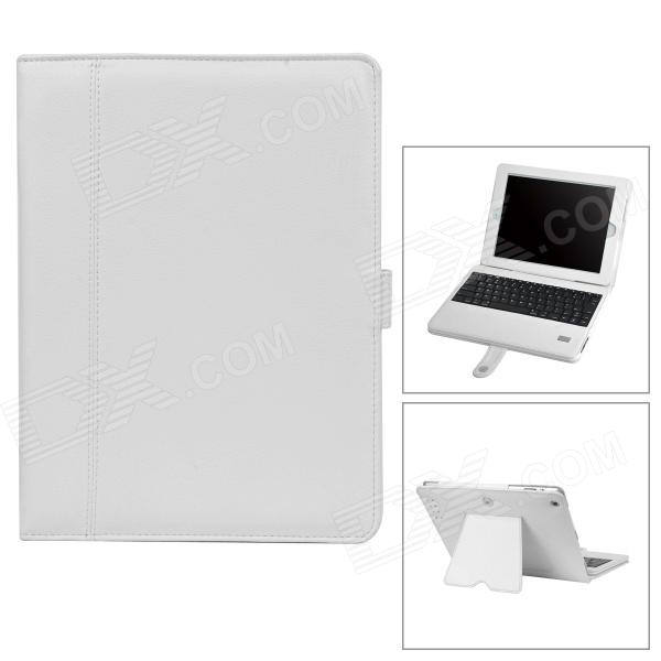 IP-118 PU Leather + ABS Case w/ Wireless Bluetooth 84-key Keyboard for Ipad 2 / 3 / 4 - Beige