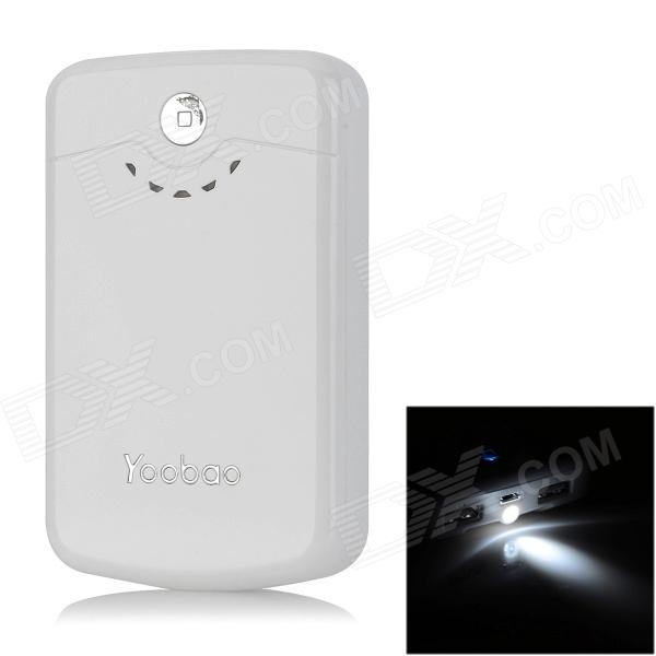Yoobao YB642 11200mAh Rechargeable Mobile Bank w/ 7 Charging Adapters - White