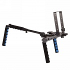 FuLaiShi DR-2 Multi-Function Shoulder Stand for DSLR Camera - Black + Blue