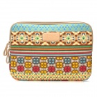 Sleeves Bohemia Style Canvas Sleeve Bag Pouch for 13'' 13.3'' Laptop - Multicolored
