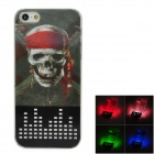 Protective 3D Pirate Pattern LED Flash Lights Back Case for Iphone 5 - Multicolored (1 x CR2016)