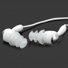 FS-001 Water Resistant Mega Bass In-Ear Earphones - White + Silver (3.5mm Plug / 89cm-Cable)