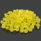 General Automobile Sound Insulation Door Clip Decorative PVC Button - Yellow (100 PCS)