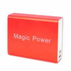 External 5200mAh Power Battery Charger w/ Power Display / White 1-LED Flashlight for iPhone - Red