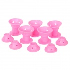 NO.2258 Peco Roll Silicone No Clip Soft Hair Style Rollers Curlers (10 PCS)