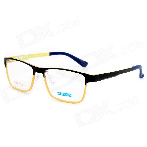 купить MINGDUN MD2316 Fashion Titanium Tungsten Myopia Frame PC Lens Eyeglasses - Black + Yellow недорого