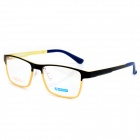 MINGDUN MD2316 Fashion Titanium Tungsten Myopia Frame PC Lens Eyeglasses - Black + Yellow