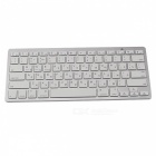 BK3002-W R 78-Keys Bluetooth 3.0 Wireless Russian Keyboard for Laptop + Tablet PC - White + Silver