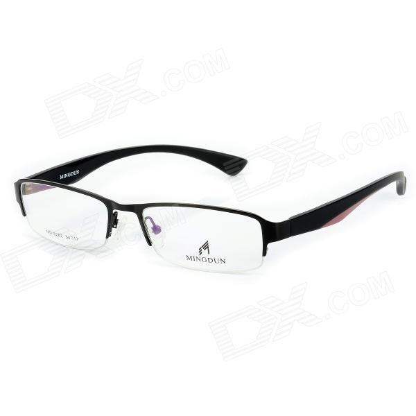 купить MINGDUN 8282 Business Men's Nickel Alloy Myopia Half-Frame w/ PC Lens - Black недорого