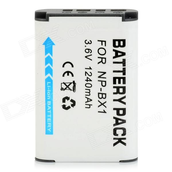 NP-BX1 Replacement 3.6V 1240mAh Li-ion Battery for Sony Sony RX100 / RX1 Camera - White replacement compatible 7 2v 3700mah battery pack for sony np fv100