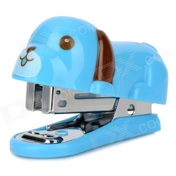 DELI 0455 Cute Dog Style Stapler Set - Blue + Brown 2017 one piece deli 0394 heavy duty stapler 80 sheets