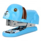 DELI 0455 Cute Dog Style Stapler Set - Blue + Brown