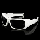 Panlees S537 Outdoor Sport Cycling UV400 Protection Goggles - White + Grey