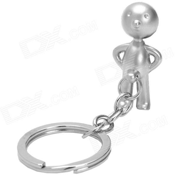 Zinc Alloy Naughty Boy Style Keychain - Silver mitsubishi mb814435 genuine oem factory original finish panel clip