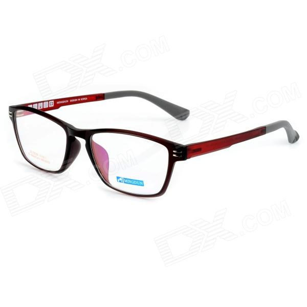купить Mingdun MD2323 Fashion Titanium Tungsten Myopia Frame PC Lens Eyeglasses - Dark Red недорого