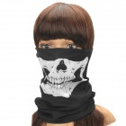 Skull Pattern Motorcycle Bicycle Racing Mask - Black + White