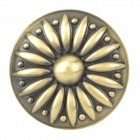 Classic Chrysanthemum Pattern Door Cupboard Drawer Handle Knob - Bronze