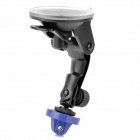 Suction Cup Mount Holder Stand for GoPro Hero / SJ4000 - Black + Blue