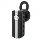 Q9B Rechargeable Wireless Bluetooth V2.1 Earbud Headset Earphone - Black + Silver