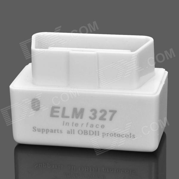 01180019 16pin Car Diagnostic Plug OBD2 Connector Bluetooth ELM327 Assembly Shell - White universal 38 pin to 16 pin obd obd2 obdii diagnostic adapter connector cable for mercedes benz cy096 cn