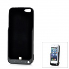 Portable External 4500mAh Battery Back Case w/ USB Cable for iPhone 5 - Black