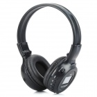 "N65 Sports Wireless 1.5"" LCD Digital Headphones MP3 Player w/ FM / SD - Black"
